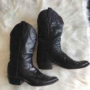 Tony Lama Black Cowboy Boots